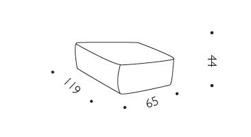 Pouf Verlaine Driade dimensioni e misure