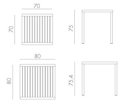 Tavolo Cube Nardi dimensioni