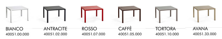 Tavolino Aria 60 Nardi colori