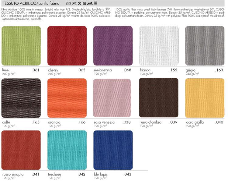 Sedia Nardi Slide colori tessuto