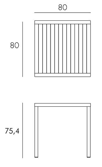 Tavolo Cube Nardi misure e dimensioni