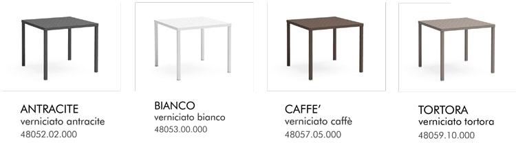 Tavolo Cube Nardi colori