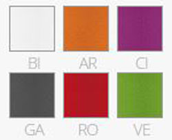 Sgabello Happy Pedrali finiture e colori
