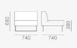 Poltrona Host con spalliera Pedrali dimensioni e misure