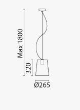 Lampada L001S/A Pedrali dimensioni e misure