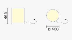 Sgabello Wow luminoso Pedrali dimensioni e misure