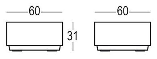 Tavolino Big Cut Plust dimensioni e misure