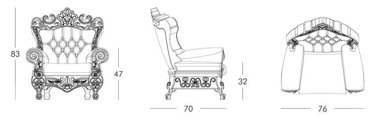 Little Queen of Love Slide Armchair