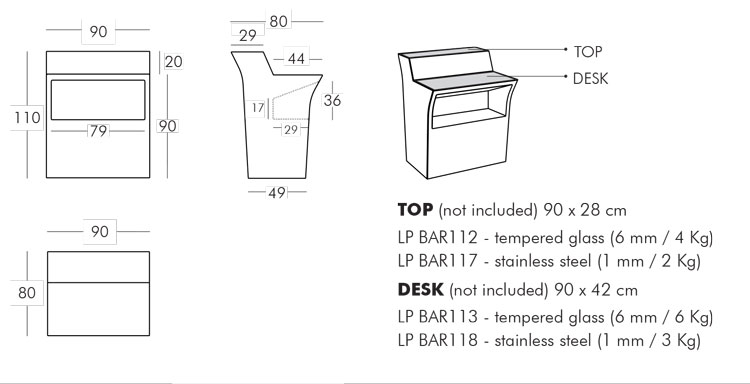 Counter Slide model Jumbo Bar - ARREDARE MODERNO