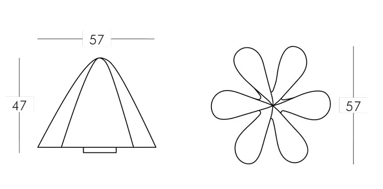 Lampe Manteau Slide mesures et dimensions
