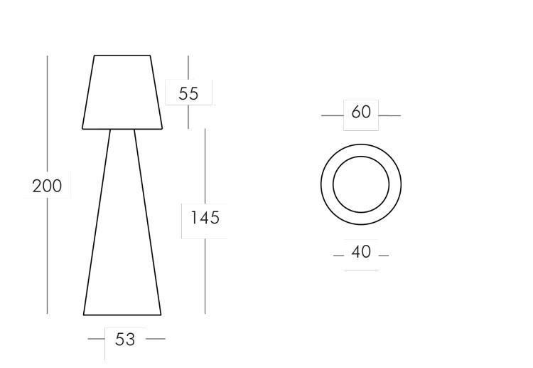 Lampada Pivot Slide misure e dimensioni