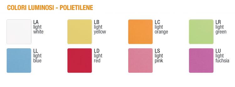 Lampe Davide Slide colori luminosi