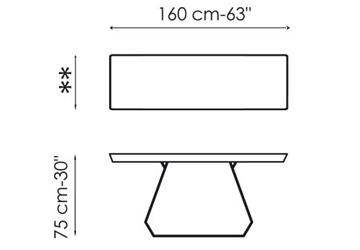 Console Amond Bonaldo 160