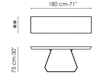 Bonaldo Amond Console 180