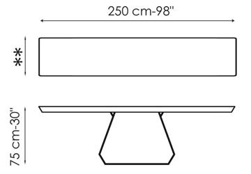 Bonaldo Amond Console 250