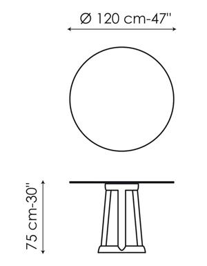 Tavolo Bonaldo modello Greeny rontondo - ARREDARE MODERNO