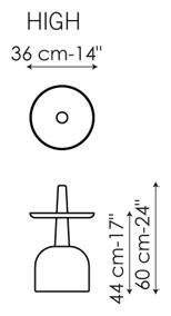 Tavolino Assemblage High Bonaldo misure