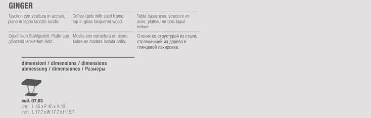 Tavolino Bontempi Casa modello Ginger - ARREDARE MODERNO