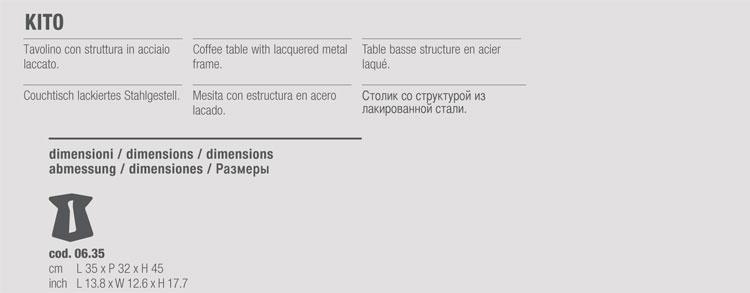 coffee-table bontempi casa model kito - arredare moderno - Tavolino Acciaio Laccato Ginger Bontempi