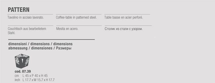tavolino bontempi casa modello pattern - arredare moderno - Tavolino Acciaio Laccato Ginger Bontempi