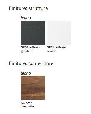 Scrittoio Batik Cattelan Italia finiture e colori