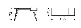 Scrittoio Batik Cattelan Italia dimensioni e misure