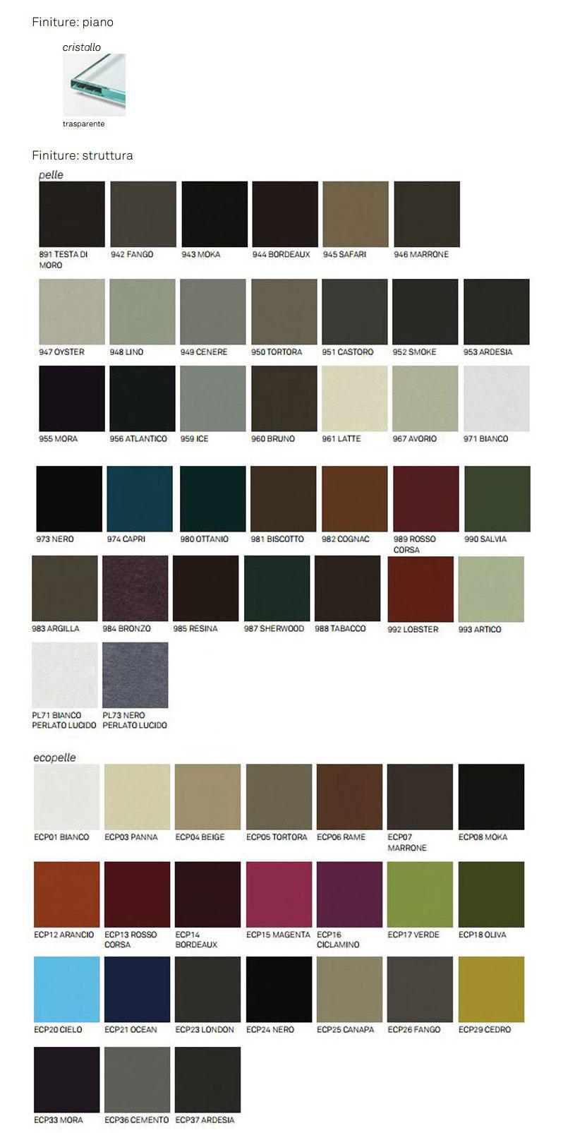 Dorian Nachttisch Cattelan Italia Ausführungen und Farben