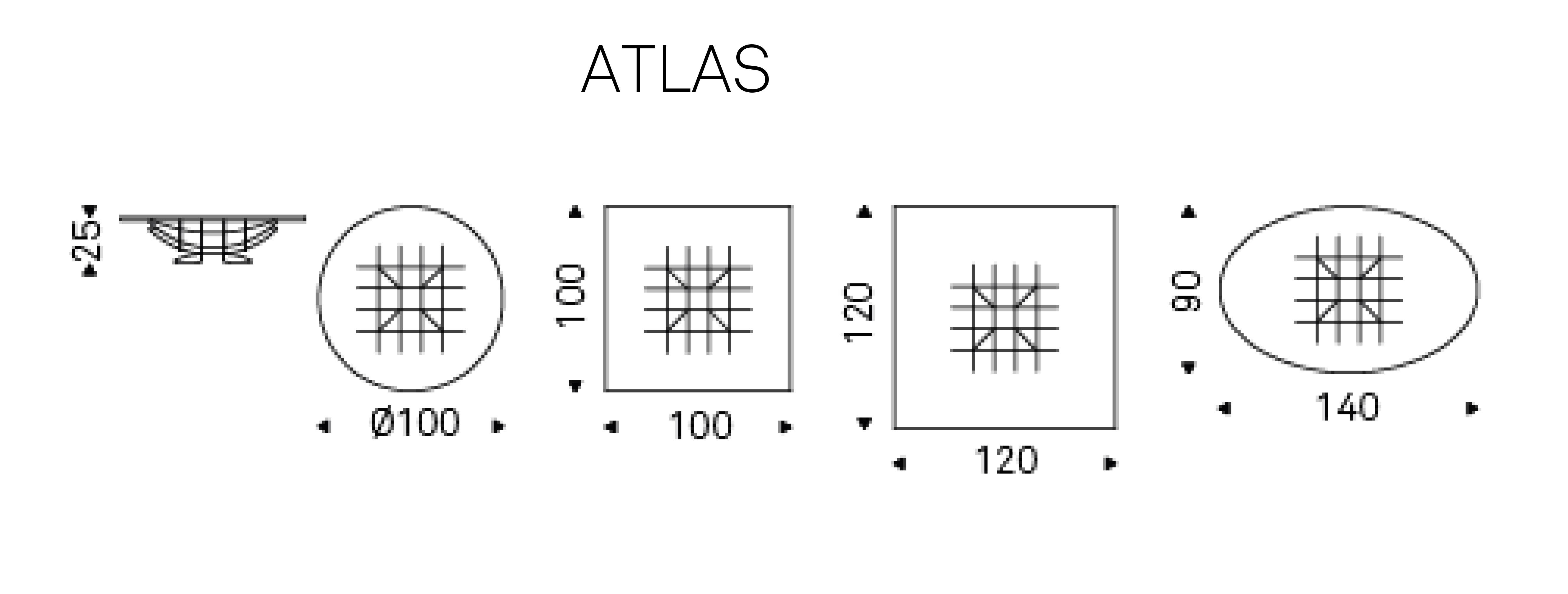 Tavolino Atlas Cattelan Italia dimensioni