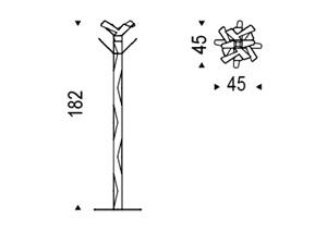 Appendiabiti Baum Cattelan Italia dimensioni
