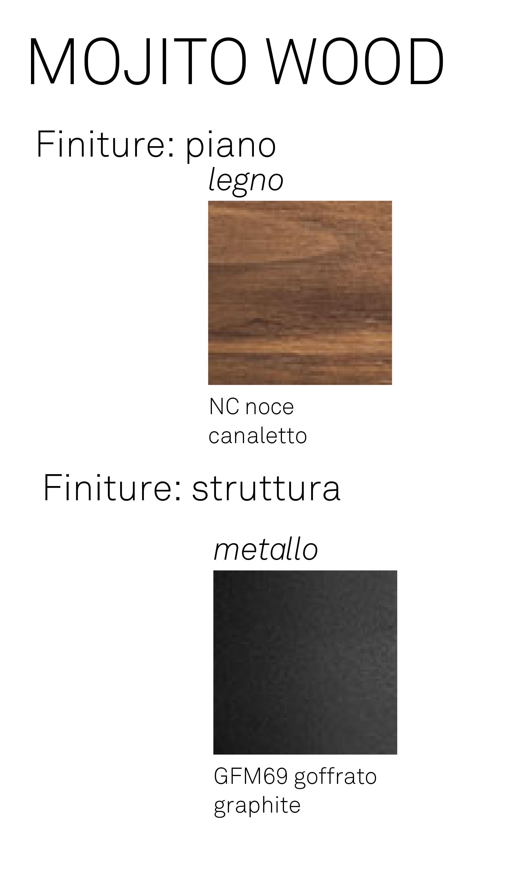 Carrello bar Mojito Wood finiture