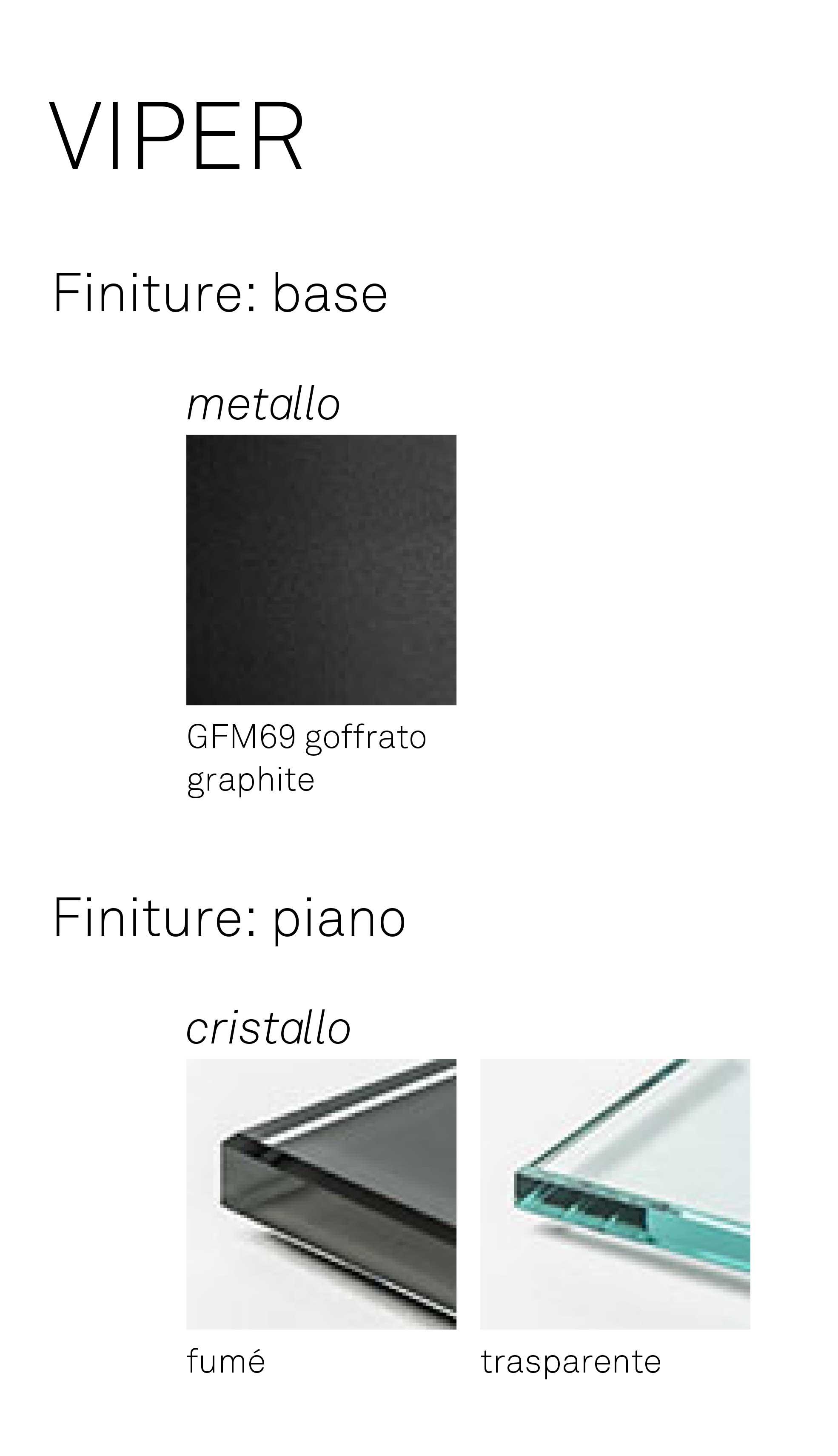 Tavolino Viper Cattelan Italia finiture
