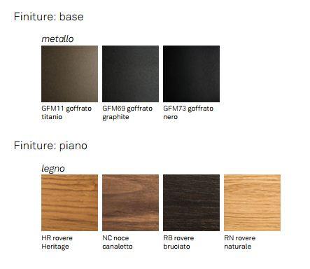 Skorpio Wood Tisch Cattelan Italia Ausführungen und Farben