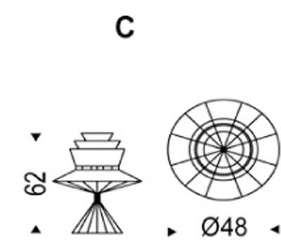 Lampada Bolero Cattelan Italia da tavolo dimensioni e misure