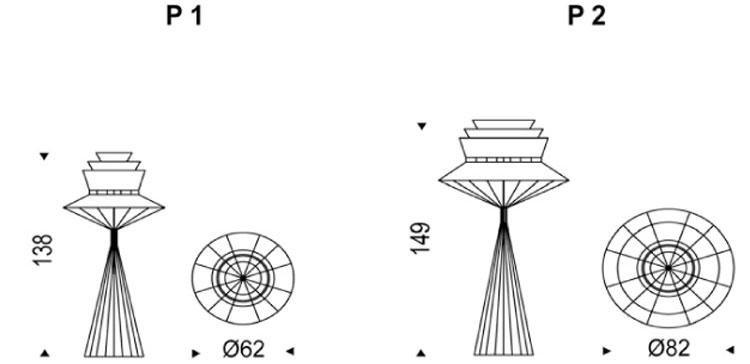 Lampada Bolero Cattelan Italia da terra dimensioni e misure