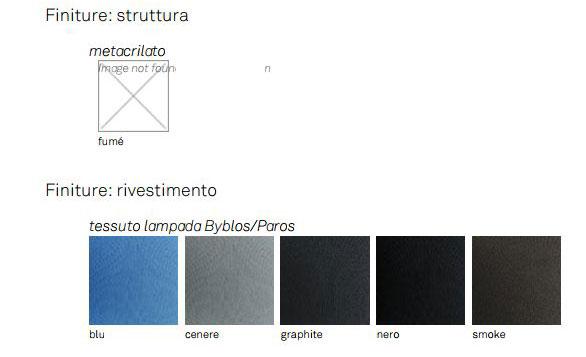Lampada Byblos Cattelan Italia finiture e colori
