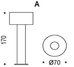 Lampada Orion Cattelan Italia da terra dimensioni e misure