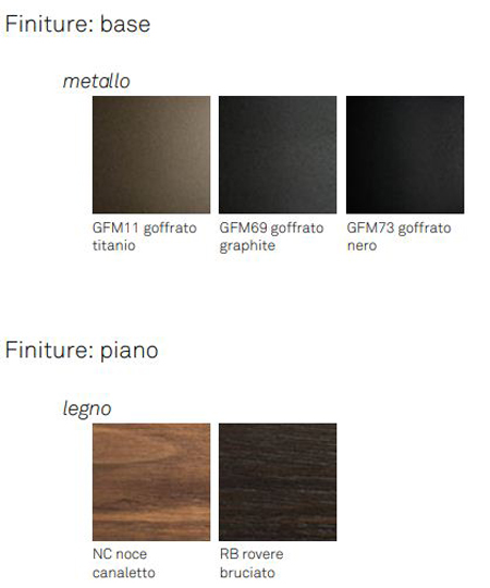 Tavolo Soho Wood Cattelan Italia finiture e colori