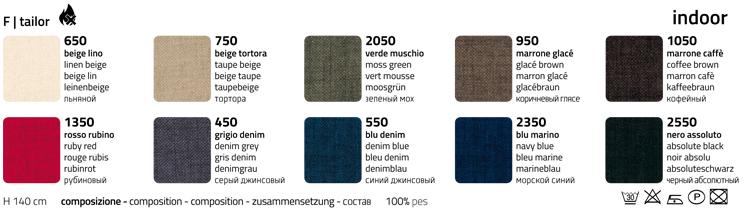 sedia colico grace finiture tessuto tailor