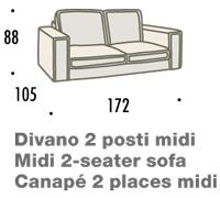 misure divano felis hogan A 2 posti midi