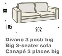 misure divano felis hogan A 3 posti big