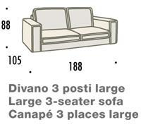 misure divano felis hogan A 3 posti large