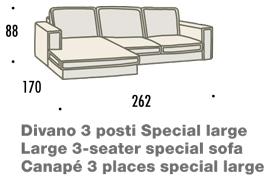 misure divano con penisola large felis hogan A