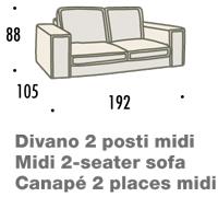 misure divano felis hogan B 2 posti midi