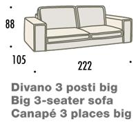 misure divano felis hogan B 3 posti big