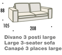 misure divano felis hogan B 3 posti large