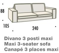 misure divano felis hogan B 3 posti maxi