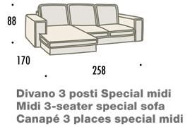 misure divano con penisola midi felis hogan B