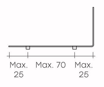 Espositore fiam modello mensole rialto l arredare moderno for Misure mensole