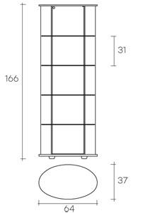 vetrine espositori mensole fiam modello palladio misure