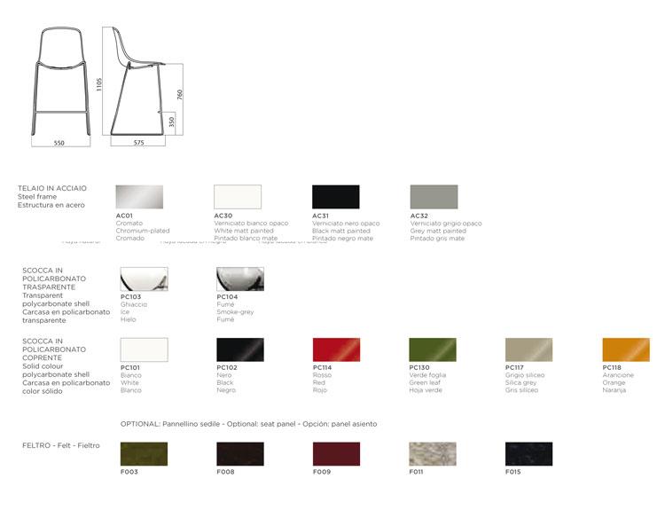 Sgabello infiniti design modello pure loop bar arredare moderno